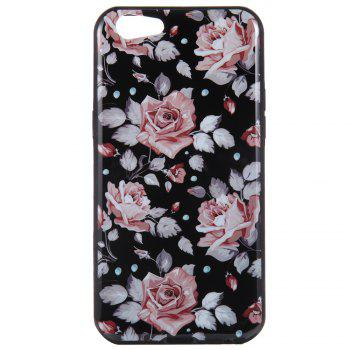 Wkae Porcelain Flower Mobile Phone Shell Surrounded By Rhinestone for OPPO A39 -  PINK