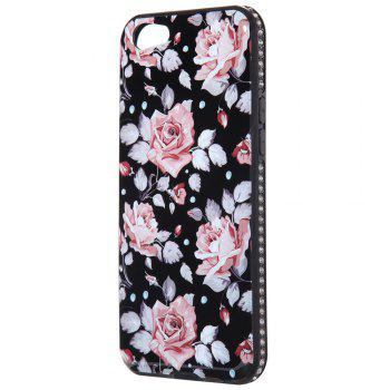 Wkae Porcelain Flower Mobile Phone Shell Surrounded By Rhinestone for OPPO A39 - PINK PINK