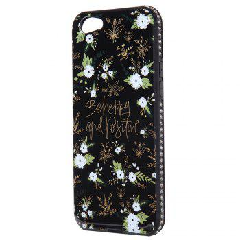 Wkae Porcelain Flower Mobile Phone Shell Surrounded By Rhinestone for OPPO A39 - WHITE AND BLACK WHITE/BLACK