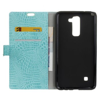 KaZiNe Crocodile Texture Wallet Stand Leather Cover For  LG K10 -  GREEN