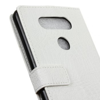 KaZiNe Crocodile Texture Wallet Stand Leather Cover For  LG V20 -  WHITE