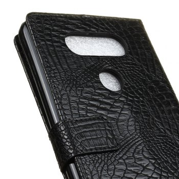 KaZiNe Crocodile Texture Wallet Stand Leather Cover For  LG V20 -  BLACK