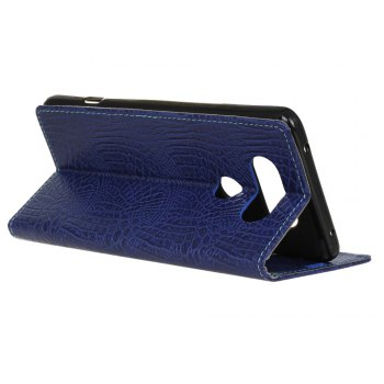 KaZiNe Crocodile Texture Wallet Stand Leather Cover For  LG V20 -  BLUE