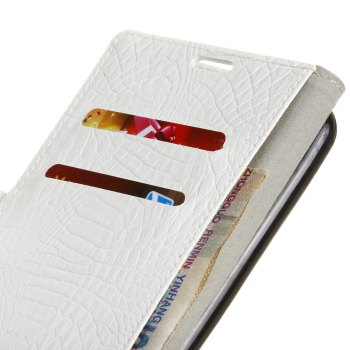 KaZiNe Crocodile Texture Wallet Stand Leather Cover For  LG V20 MINI -  WHITE