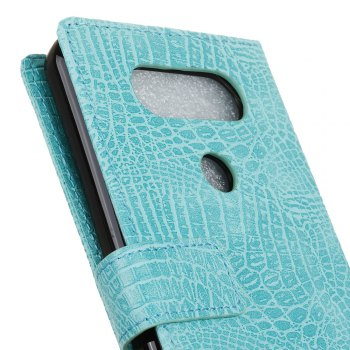 KaZiNe Crocodile Texture Wallet Stand Leather Cover For  LG V20 MINI -  GREEN
