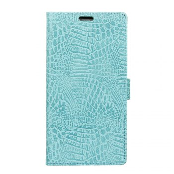 KaZiNe Crocodile Texture Wallet Stand Leather Cover For  LG V20 MINI - GREEN GREEN