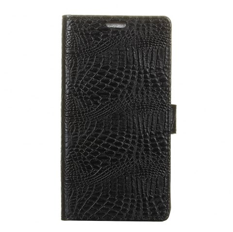 KaZiNe Crocodile Texture Wallet Stand Leather Cover For LG U/F820L - BLACK