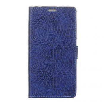 KaZiNe Crocodile Texture Wallet Stand Leather Cover For LG U/F820L - BLUE BLUE