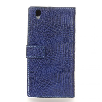 KaZiNe Crocodile Texture Wallet Stand Leather Cover For LG U/F820L -  BLUE