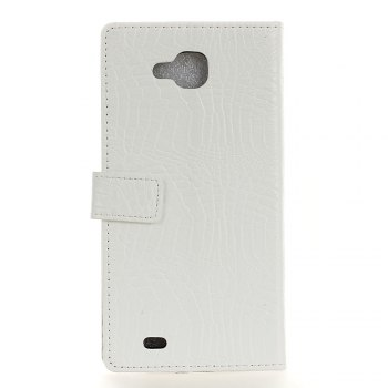 KaZiNe Crocodile Texture Wallet Stand Leather Cover For LG V9 -  WHITE