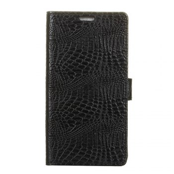KaZiNe Crocodile Texture Wallet Stand Leather Cover For LG V9 - BLACK BLACK