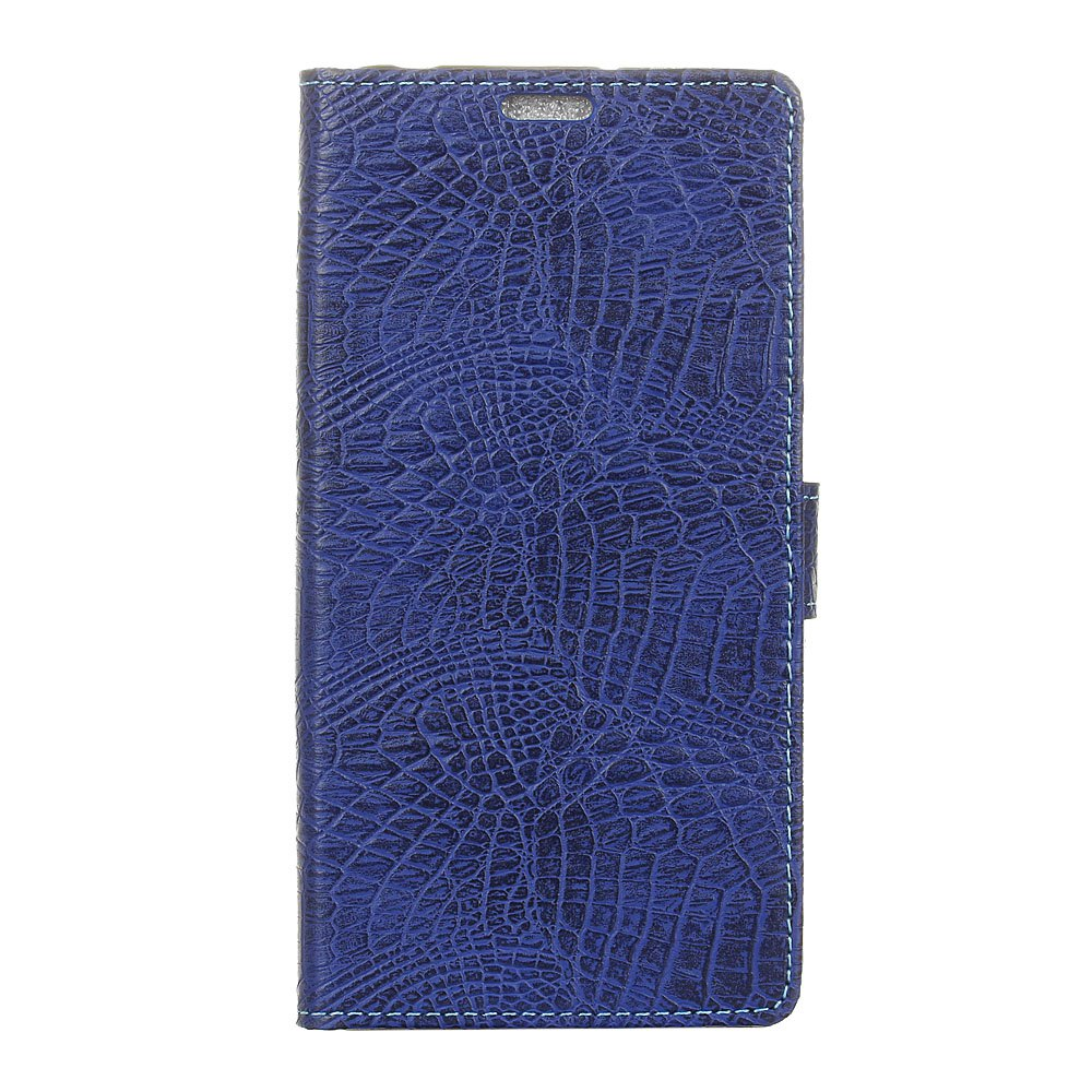 KaZiNe Crocodile Texture Wallet Stand Leather Cover For LG V9 - BLUE