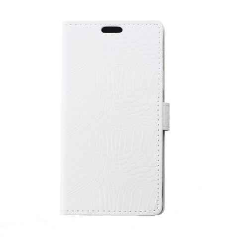KaZiNe Crocodile Texture Wallet Stand Leather Cover For ONE PLUS 3T/3 - WHITE