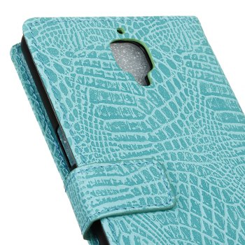 KaZiNe Crocodile Texture Wallet Stand Leather Cover For ONE PLUS 3T/3 -  GREEN