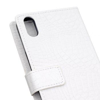 KaZiNe Crocodile Texture Wallet Stand Leather Cover For IPHONE X -  WHITE