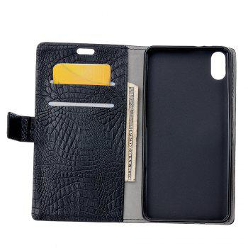 KaZiNe Crocodile Texture Wallet Stand Leather Cover For IPHONE X -  BLACK