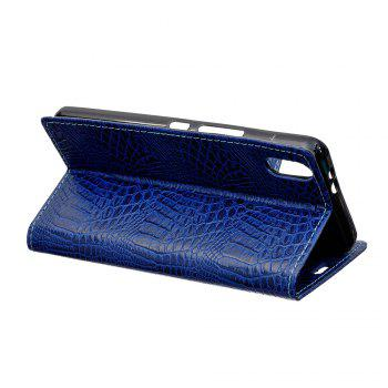 KaZiNe Crocodile Texture Wallet Stand Leather Cover For IPHONE X -  BLUE