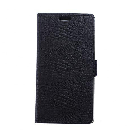 KaZiNe Crocodile Texture Wallet Stand Leather Cover For MOTO Z PLAY/Z FORCE - BLACK