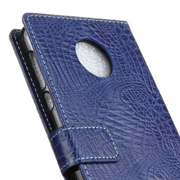KaZiNe Crocodile Texture Wallet Stand Leather Cover For MOTO Z PLAY/Z FORCE -  BLUE