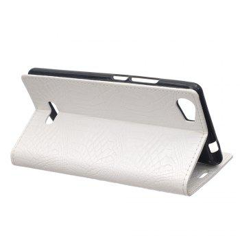 KaZiNe Crocodile Texture Wallet Stand Leather Cover For WIKO FEVER -  WHITE