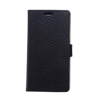 KaZiNe Crocodile Texture Wallet Stand Leather Cover For WIKO S K00L - BLACK BLACK