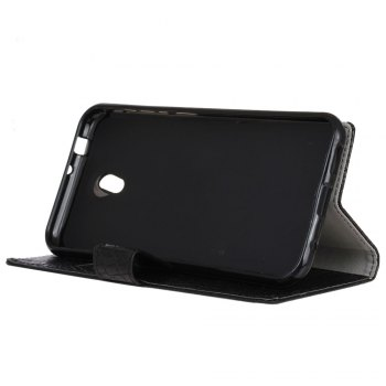 KaZiNe Crocodile Texture Wallet Stand Leather Cover For WIKO S K00L -  BLACK