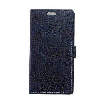 KaZiNe Crocodile Texture Wallet Stand Leather Cover For WIKO S K00L - BLUE BLUE
