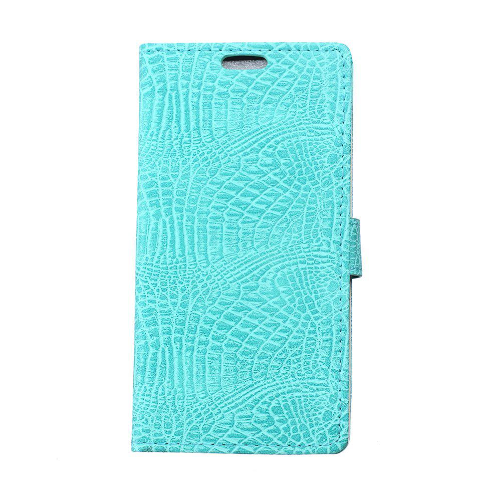 KaZiNe Crocodile Texture Wallet Stand Leather Cover For WIKO S K00L - GREEN