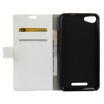 KaZiNe Crocodile Texture Wallet Stand Leather Cover For WIKO JERRY MAX/LENNY3 MAX -  WHITE