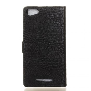 KaZiNe Crocodile Texture Wallet Stand Leather Cover For WIKO JERRY MAX/LENNY3 MAX -  BLACK