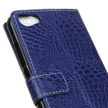 KaZiNe Crocodile Texture Wallet Stand Leather Cover For WIKO JERRY MAX/LENNY3 MAX -  BLUE