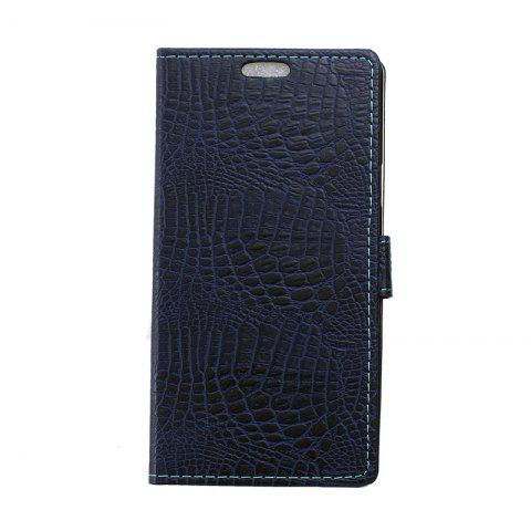 KaZiNe Crocodile Texture Wallet Stand Leather Cover For Alcatel PIXI 3 5.0 OT5015 - BLUE