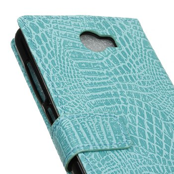 KaZiNe Crocodile Texture Wallet Stand Leather Cover For Alcatel  A30 -  GREEN