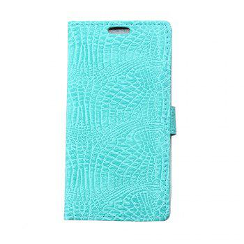 KaZiNe Crocodile Texture Wallet Stand Leather Cover For Alcatel  A30 - GREEN GREEN