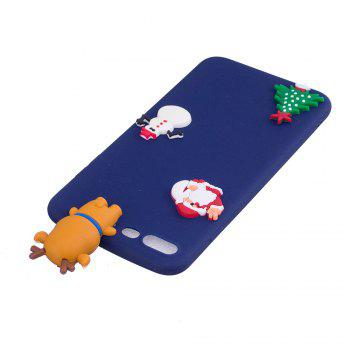 Christmas Tree Santa Claus Reindeer 3D Cartoon Animals Soft Silicone TPU Case for iPhone 7 Plus / 8 Plus - BLUE