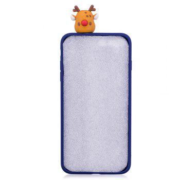 Christmas Tree Santa Claus Reindeer 3D Cartoon Animals Soft Silicone TPU Case for iPhone X - BLUE
