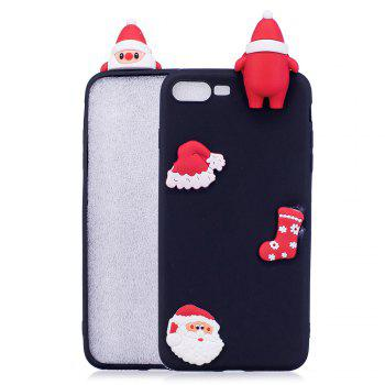 Christmas Hat Tree Santa Claus Reindeer 3D Cartoon Animals Soft Silicone TPU Case for iPhone 7 Plus / 8 Plus