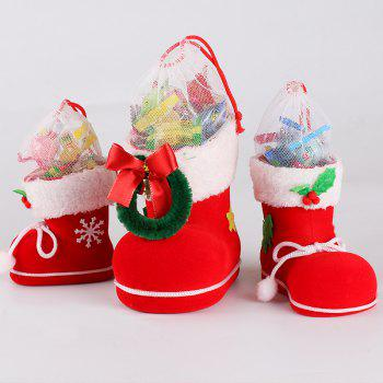 Christmas Decoration Children Present Candy Boots Small Gift Package 1pc - RED SIZE L