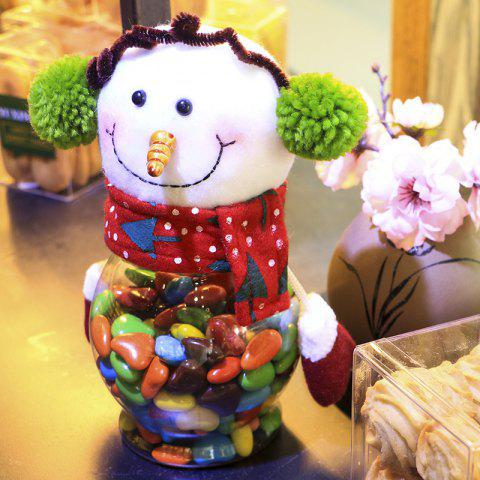 Christmas Biscuit Candy Storage Jar Children Gift Decoration - COLORMIX SNOWMAN STYLE
