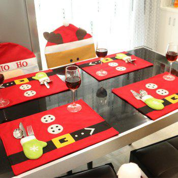 Creative Christmas Party Home Restaurant Table Mat Decoration Accessories - RED RED