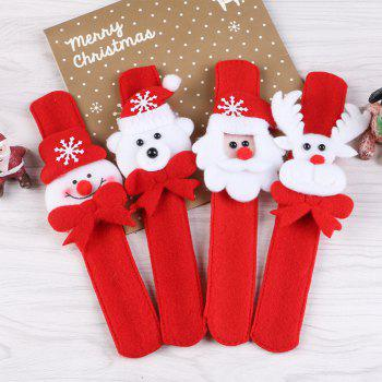 2pcs Creative Christmas Party Children Decorative Bracelet Pats Circle - RED/WHITE RED/WHITE