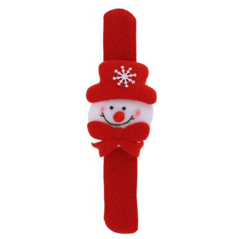 2pcs Creative Party de Noël Enfants Bracelet décoratif Pats Circle - Rouge et Blanc SNOWMAN STYLE
