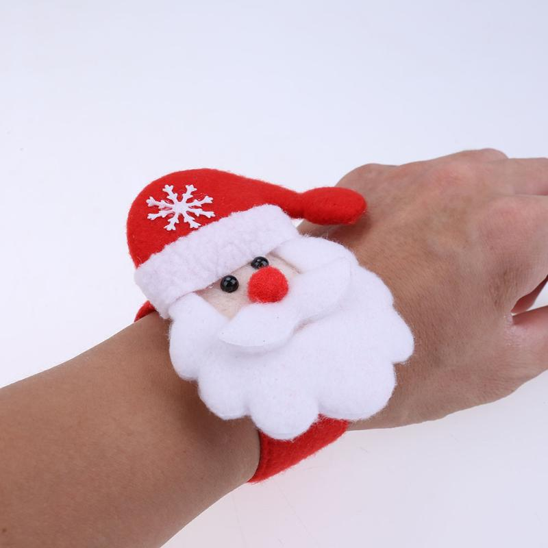 2pcs Creative Christmas Party Children Decorative Bracelet Pats Circle - RED/WHITE SANTA CLAUS STYLE