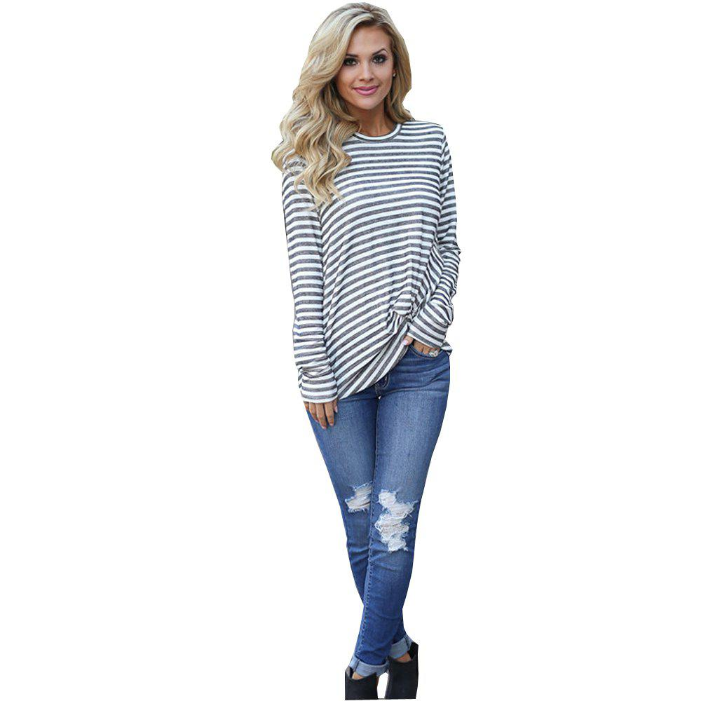 Long Sleeve Striped T-Shirt - STRIPE XL