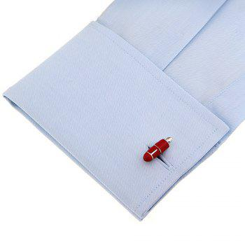 Men's Creative Stylish Pen Molding Chic Cuff Buttons Accessory - RED