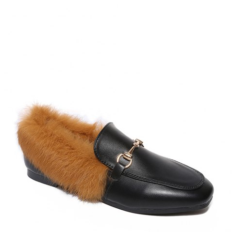 YYO6 Femmes Hiver Chaussures simples Mode Casual Bas Haute Chaussure romaine - Brun 38