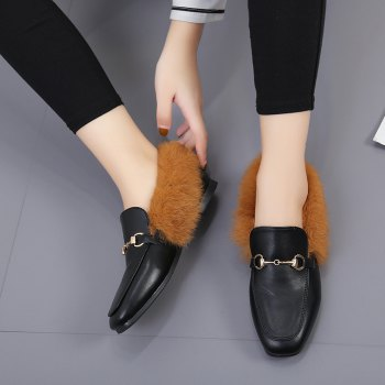 YYO6 Femmes Hiver Chaussures simples Mode Casual Bas Haute Chaussure romaine - BRUN 37