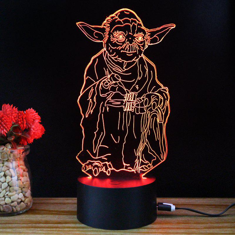M.Sparkling TD055 Creative Famous Character 3D LED Lamp - RGB