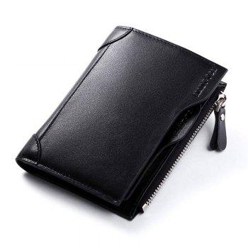 HAUT TON Genuine Leather Trifold Wallets for Men Credit Card Protector