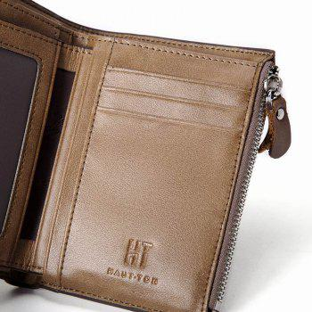 HAUT TON Genuine Leather Trifold Wallets for Men Credit Card Protector - KHAKI KHAKI